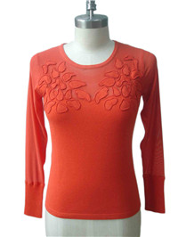 sweater with woven fabric   Fine Knitting