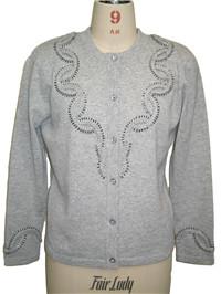 beading + diamond sweater   Fine Knitting