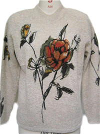 print sweater 1   Fine Knitting