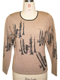 print sweater 2   Fine Knitting