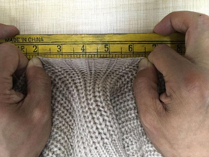 sweater tension measuring | Fine Knitting