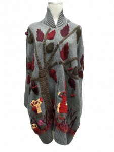 Embroidered Sweater Knitwear Cardigan Factory China