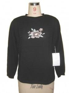 Black Sweater Intarsia knits factory