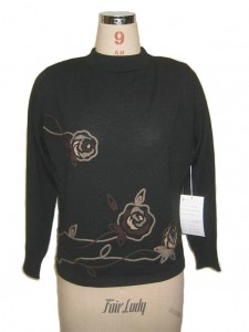 black sweater factory hand embroidery