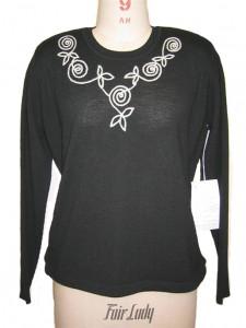 Black Jersey Sweater Knit factory
