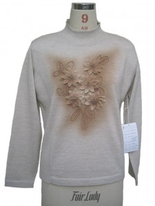 Flower Hand Embroidery Sweater Knits factory