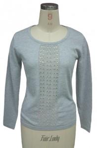 Grey Jersey Sweater Knit factory