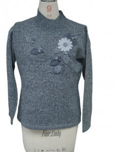 Embroidered Cashmere Sweater Knitwear manufacturers