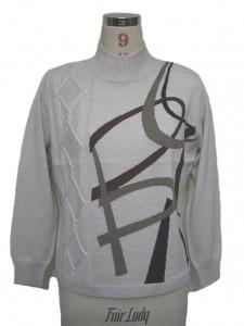 Turtleneck Cotton Sweater Knits Intarsia factory