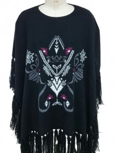 cashmere ponchos Intarsia sweater factory