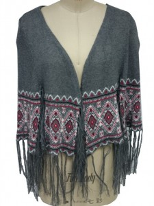 Intarsia Ponchos Knitwear factory