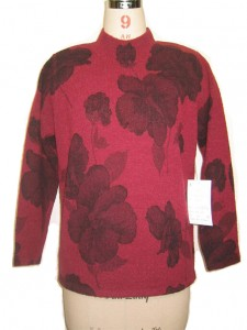 Jacquard Sweater factory Red
