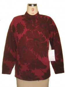 Sweater Knits factory Jacquard Red