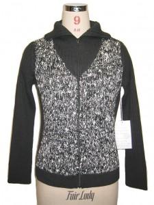 Black Reverse Jersey Sweater Knits factory