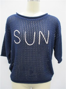 cashmere sweater knit ladies fashion short sleeve sweater