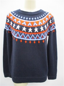 Intarsia Sweater Italian yarn sweater factory