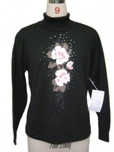 intarsia sweaters factory black