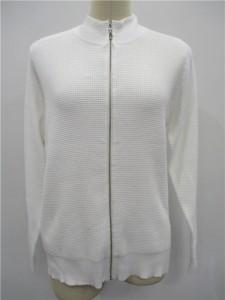 white cardigan sweater factory knitwear