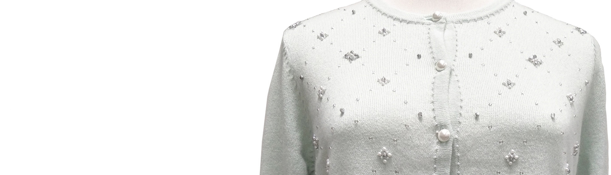 Hand Beading Cashmere Knitwear