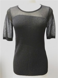 black short sleeve viscose sweater