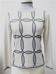 16gg cashmere intarsia sweater 18gg