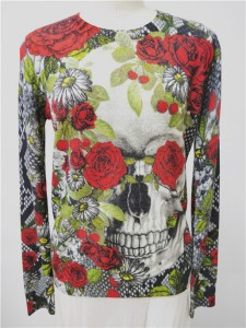 cashmere sweater printed skull