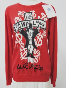digital printed sweater cashmere knitwear red