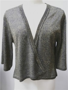 fashion cardigan lurex sweater