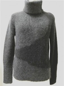 intarsia mohair sweater women black