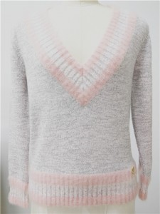 mohair fashion knitwear lurex long sleeve