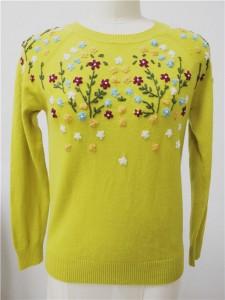 wool knit sweater hand embroidery knitwear