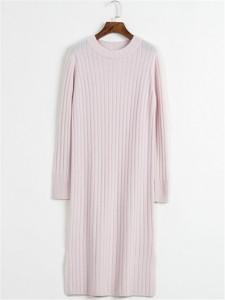 pink long sweater knit