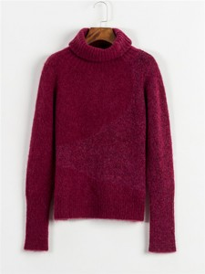 red chunky sweater cashmere knit sweater