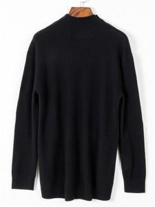 sweater fineknitting fashion black long