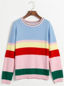 cotton sweater fashion striped
