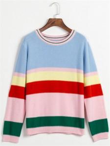 cotton sweater fashion striped