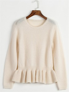 mohair sweater fashion white